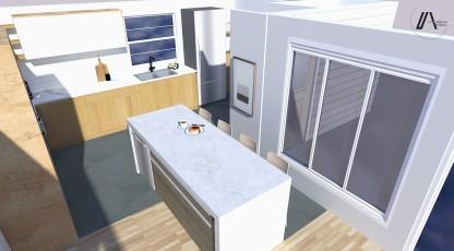 PROJECTION 3D DE LA CUISINE